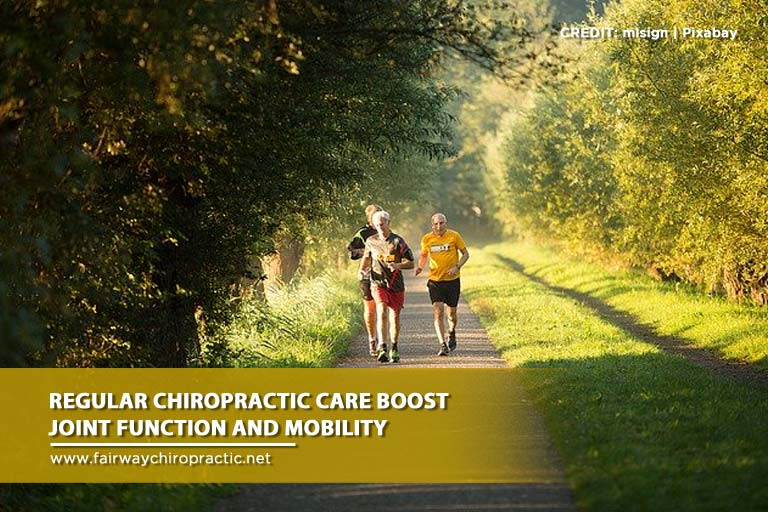Regular chiropractic care boost joint