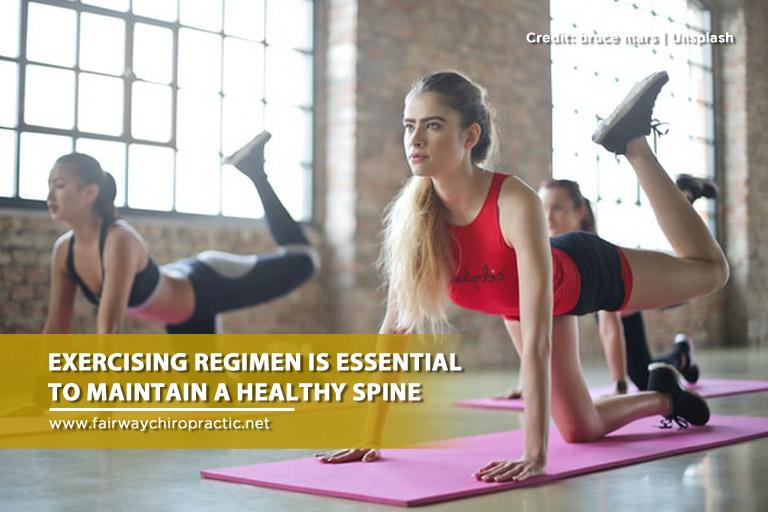 Exercising regimen is essential