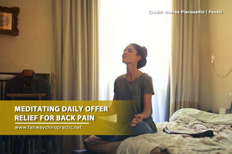 Meditating daily offer relief